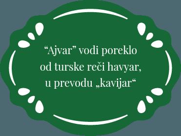 Ajvar vodi poreklo od turske reci havyar u prevodi kavijar