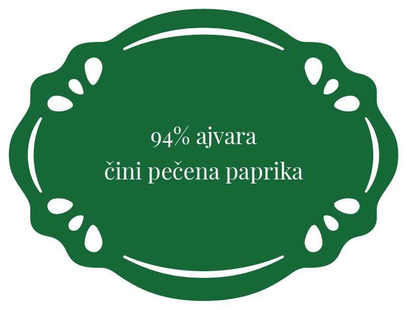 94% ajvara cini pecena paprika