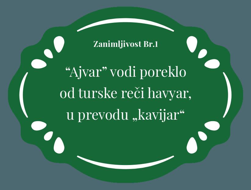 Ajvar u prevodu znaci kavijar